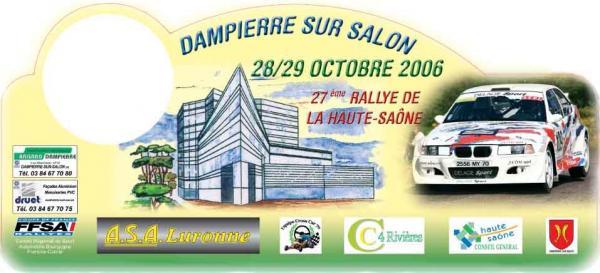 27ème Rallye de Haute-Saone